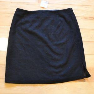 Hanna andersson little black skirt 16 wool blend